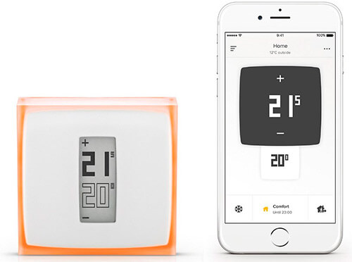 Termostato wifi Netatmo inalámbrico digital