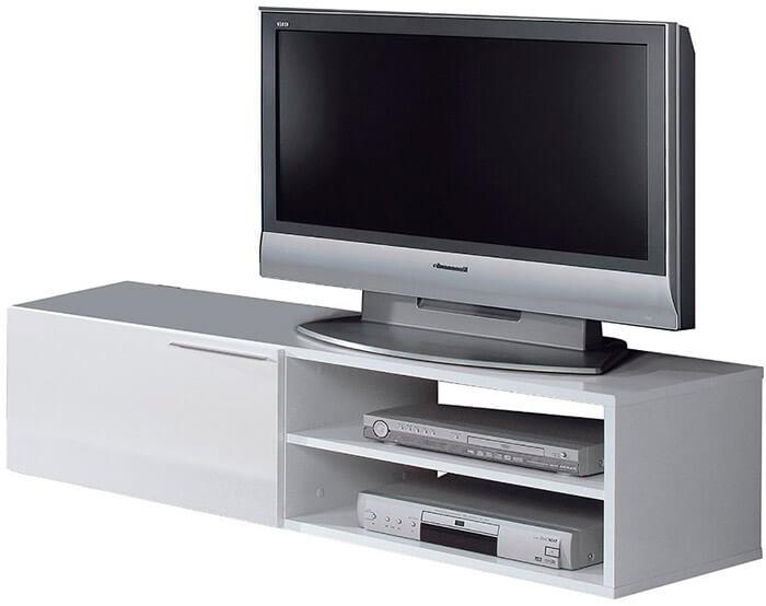 Mesa TV blanca barata