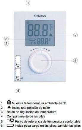 Termostato Siemens rdh10