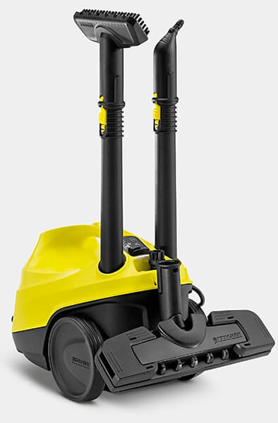 Mejor vaporeta Kärcher SC3 amarilla y negra para limpiar ventanas suelos y persianas