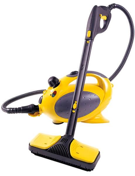 Mejor vaporeta Vaporetto Polti Pocket amarilla y negra para limpiar a vapor