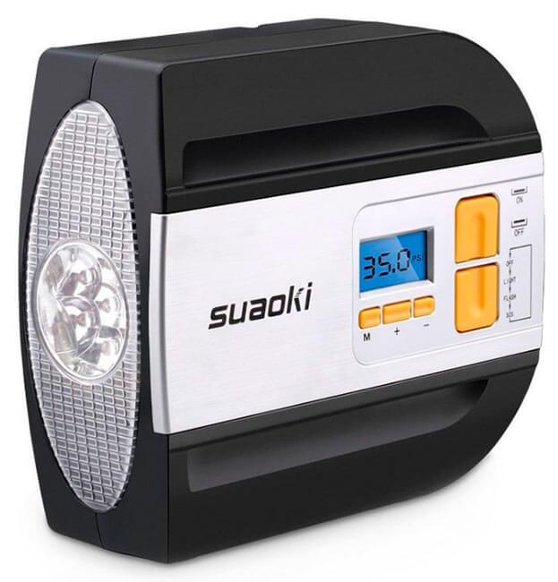 Mejores compresores portátiles de aire baratos precios opiniones Suaoki-RCP