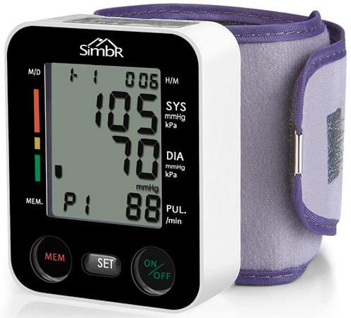 mejor tensiómetro digital de muñeca SIMBR Home Health