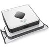 Robot friegasuelos Braava 390t de color blanco y negro de forma cuadrada
