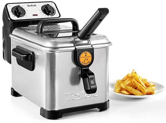 Freidora eléctrica Tefal Filtra Pro Inox & Desing FR404730