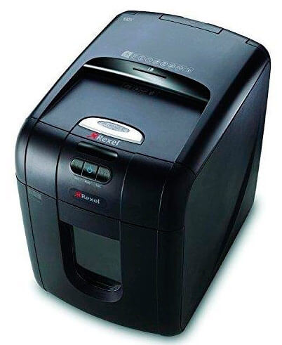 Mejores trituradoras de papel baratas domésticas Rexel Auto 100X