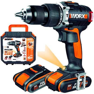 Mejor taladro percutor de batería WORX WX373