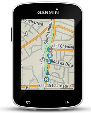 Garmin Edge 820 Explore con un mapa en su pantalla
