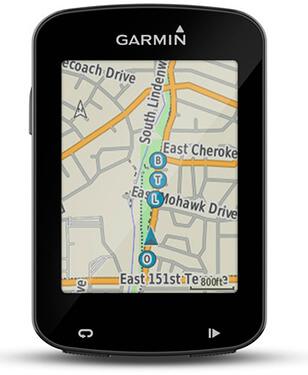 Garmin Edge 820 con un mapa en su pantalla