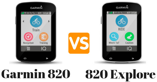 Garmin 820 vs 820 Explore