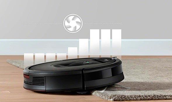 iRobot Roomba 981 subiendo una alfombra