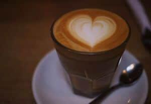 Taza de café latte