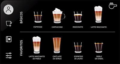 Tipos de cafés disponibles