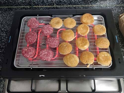 perfectsteak 4200 haciendo hamburguesas
