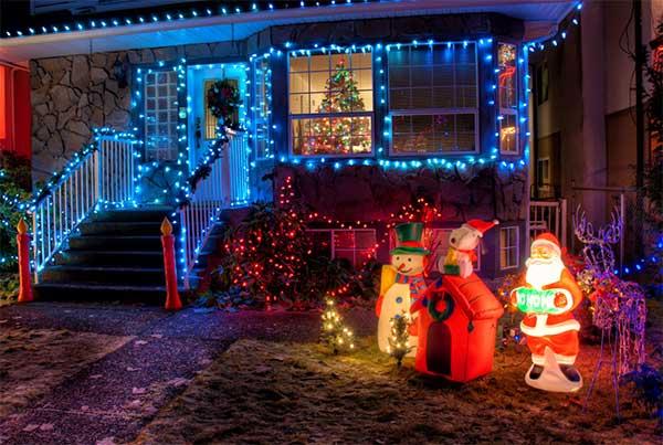 Luces de Navidad para exteriores de casas
