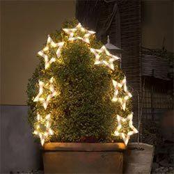 Cortina de 70 luces LED estrellas