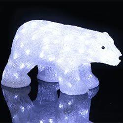 Figura LED Crystalo Oso Polar exterior